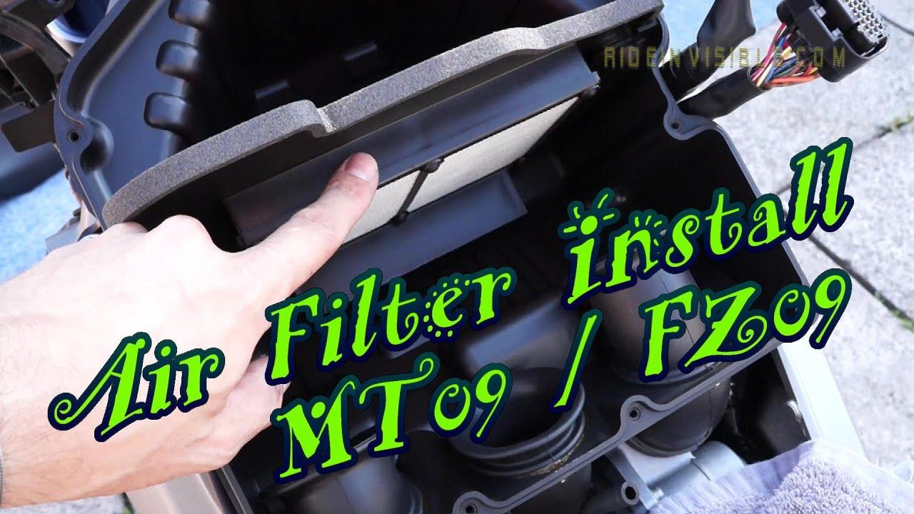 MT09 / FZ09 Air Filter Install + High Flow Fuel Setup