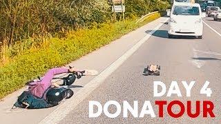DONATOUR (DAY 4) BEŠEŇOVÁ - MARTIN - (PRVÝ PÁD !!!)