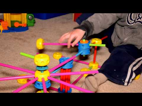 David's re-invention of a clock gear with Tinker Toys (tm)