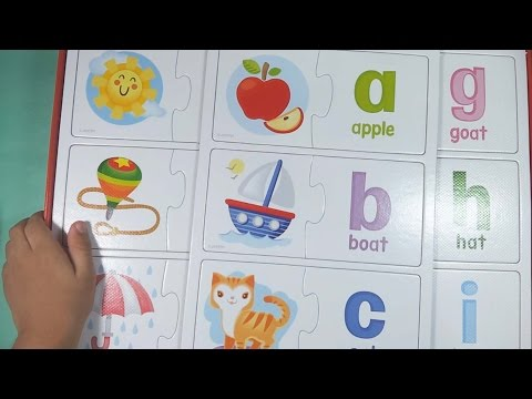ALPHABET MATCH-UP PUZZLES - Learn the English Alphabet (ABC) with Larcen