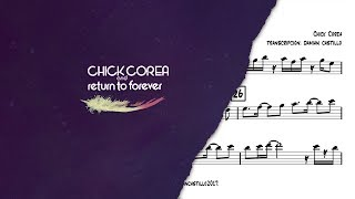 Скачать Spain Chick Corea Sax Alto Transcription