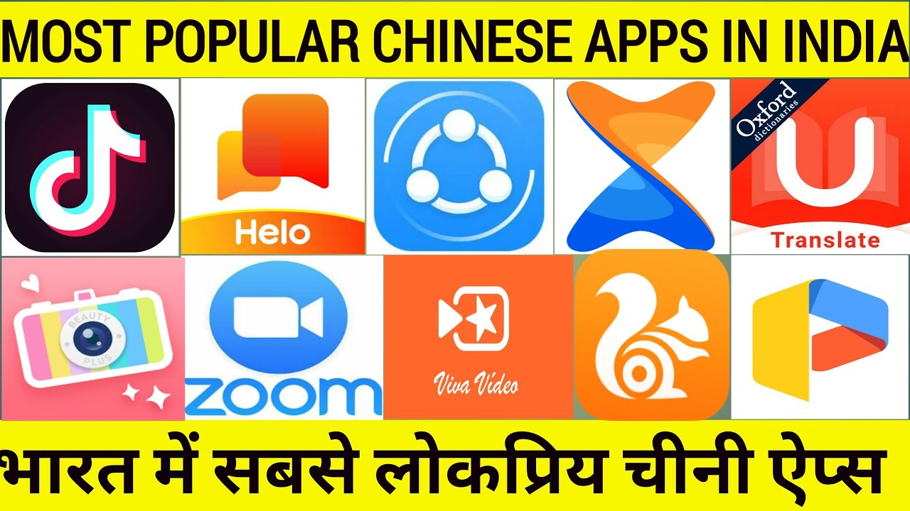 Most Popular Chinese Apps In India With Alternative Apps