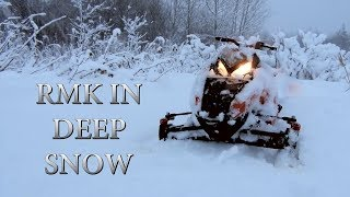 Rc Snowmobile in Deep Snow! - RMK Vs Snowstorm
