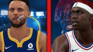 Famous Rappers VS NBA AllStars! NBA 2K18 Challenge