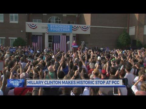 Hillary Clinton makes historic stop at Pitt Community College