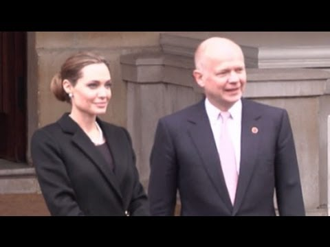 William Hague praises Angelina Jolie's 'bravery'