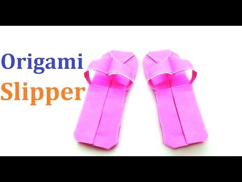 Origami Slipper:How To Make an Origami Slipper Easy Way|Amazing Origami Shoese For beginners making