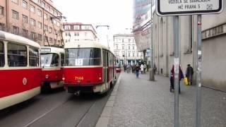 Tramvaj T3 SUCS vůz 7144 Anděl 6.2.2017