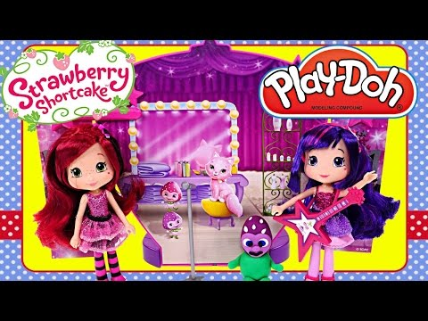 Strawberry Shortcake PLAY DOH Sweet Beats Stage Cherry Jam Doll Concert - Real Music & Songs
