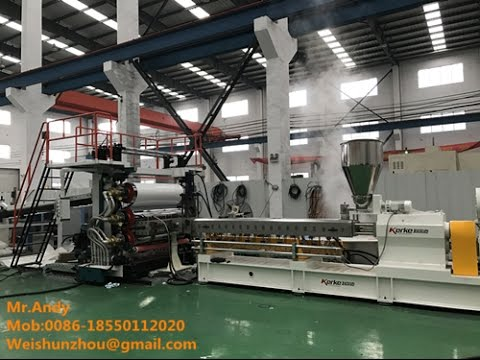 pe sheet pp pe plastic sheet extrusion parallel twin screw polymer