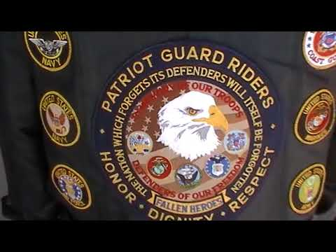 The Patriot Guard Riders get ready for the convoy for Petty Officer First Class Johnny Spicer