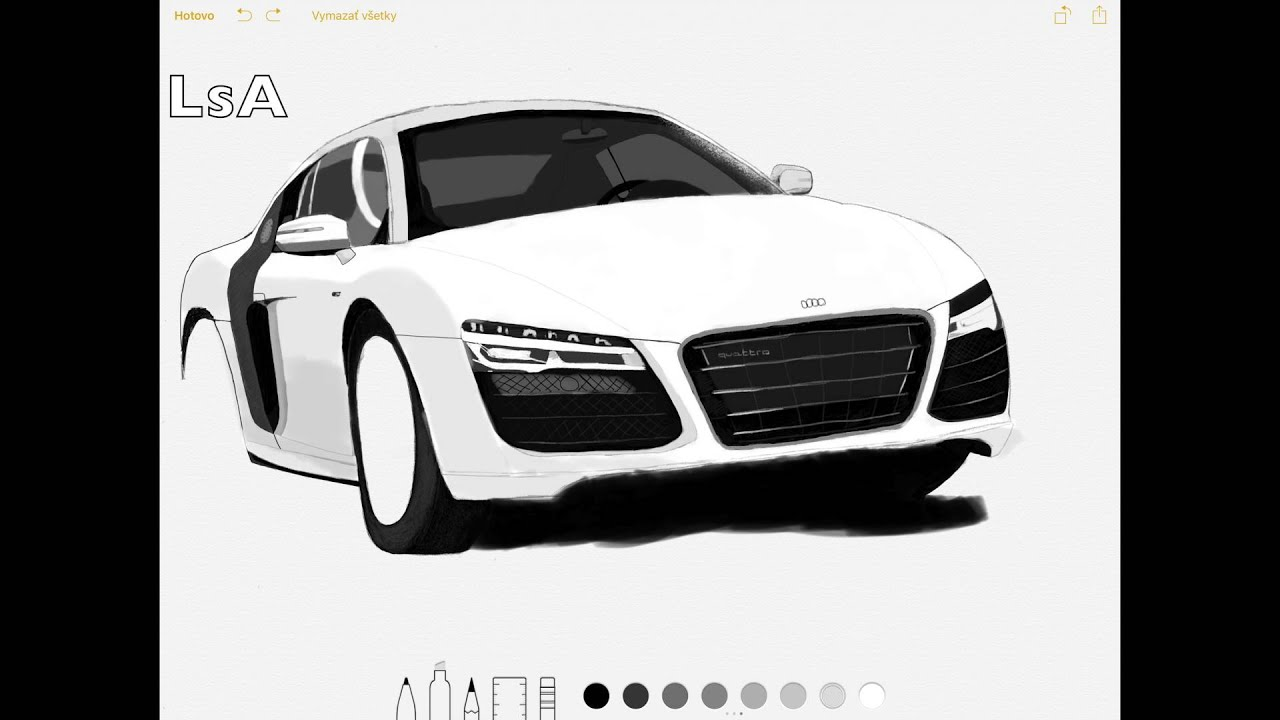 Delicieux Drawing Audi R8 With Apple Pencil   YouTube