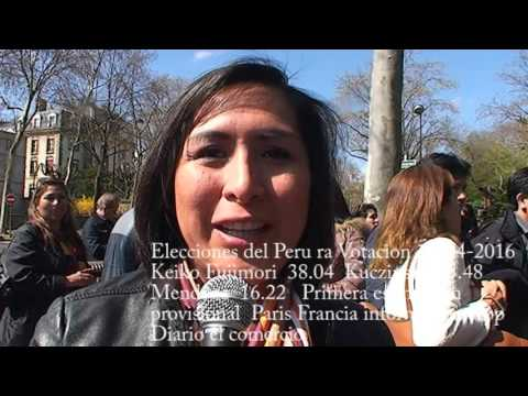 Elecciones Presidenciales del Peru Avril 2016 - Paris