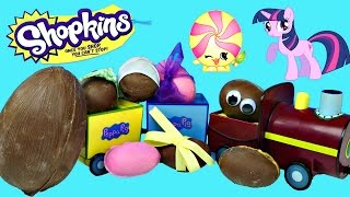 Opening Homemade Chocolate Toy Surprise Eggs   Frozen Shopkins 2 Disney Princess Mylittlepony Kinder