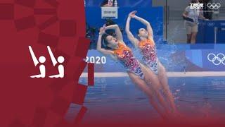 Олимпиада 2020 Синхронное плавание Команды Произвольная программа Видео обзор