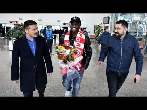Sivasspor'un yeni transferi Henri Saivet, Sivas'a geldi