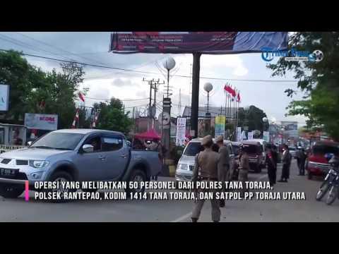 Suasana Operasi Gabungan di Depan RS Elim Rantepao Toraja Utara