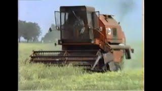 28.07.1988 Żniwa z Bizonami w PGR Pomarzanowice gmina Pobiedziska cz2 Bizon Ursus