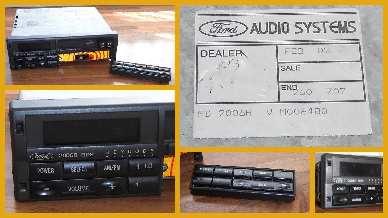 Ford escort stereo code