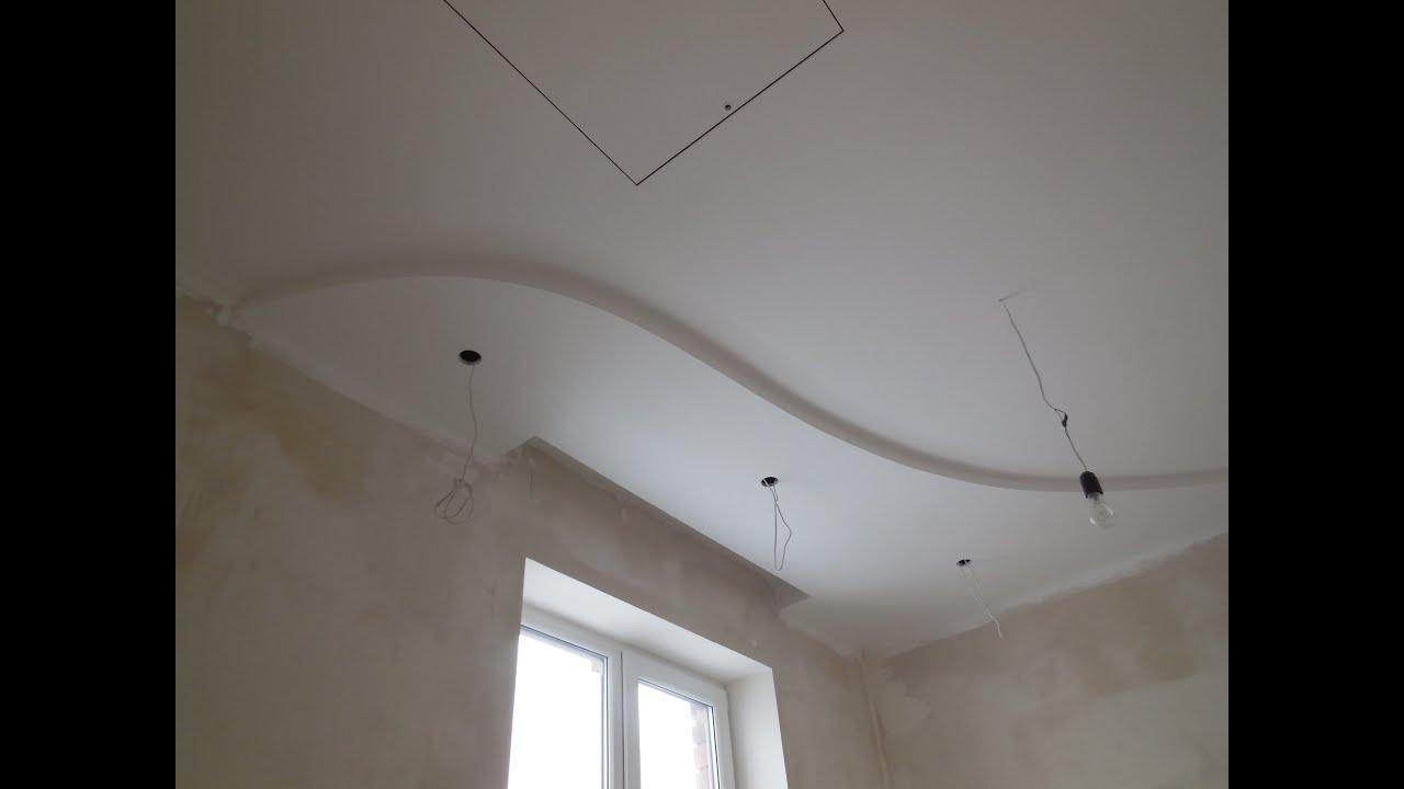 Потолок ремонт своими руками гипсокартон