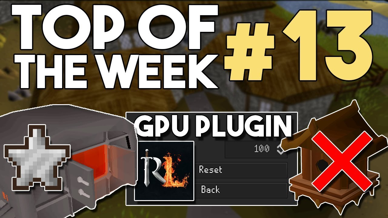 GPU Rendering for OSRS Now Out! Huge F2P Buff, and Bird House Run