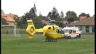 Mentőhelikopter érkezése (Szob 2012.10.07.)