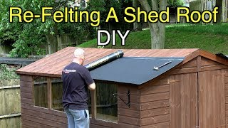 How to Easily Felt a Shed Roof The Right Way- DIY