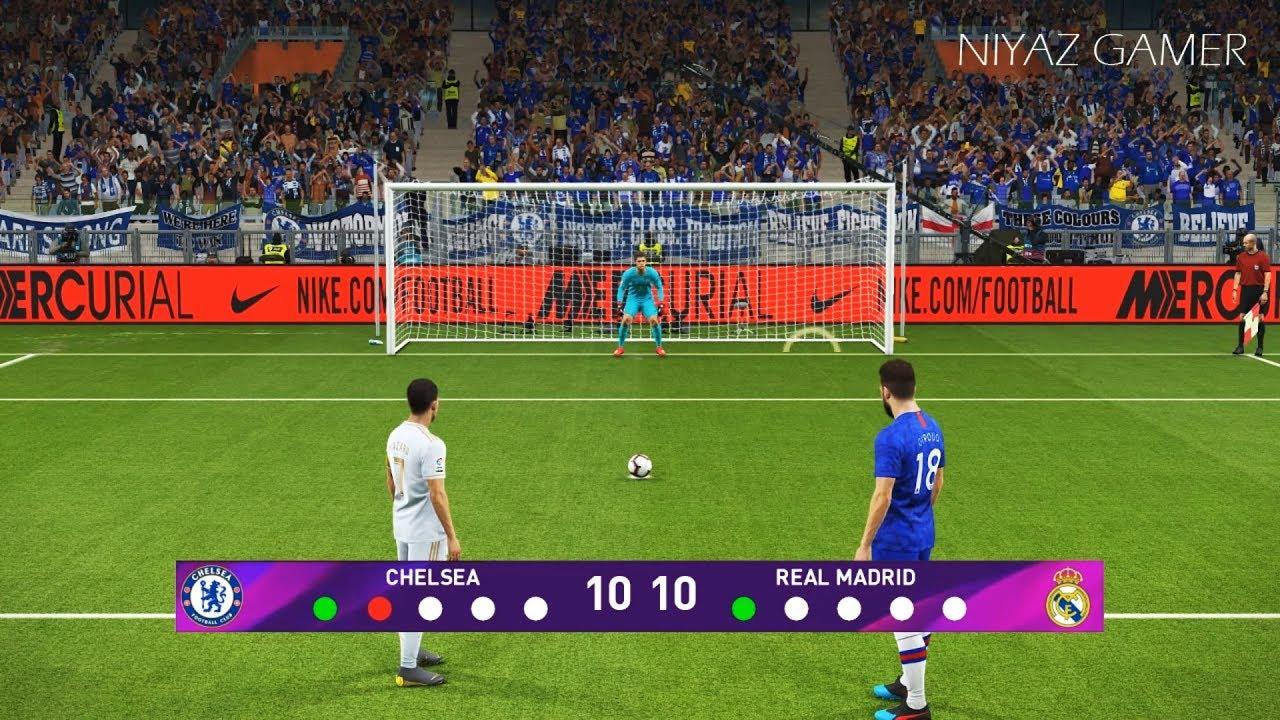 CHELSEA vs REAL MADRID | Penalty Shootout | PES 2019 ...