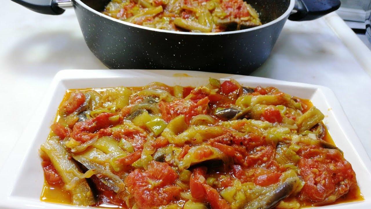 Dünyanın En Kolay Hazırlanan Patlıcan Yemeği - Zeytinyağlı Patlıcan Tarifi
