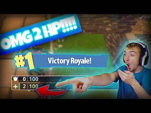 MY BEST CLUTCH EVER ON Fortnite Battle Royale! (2 HP 1v1 FIGHT)