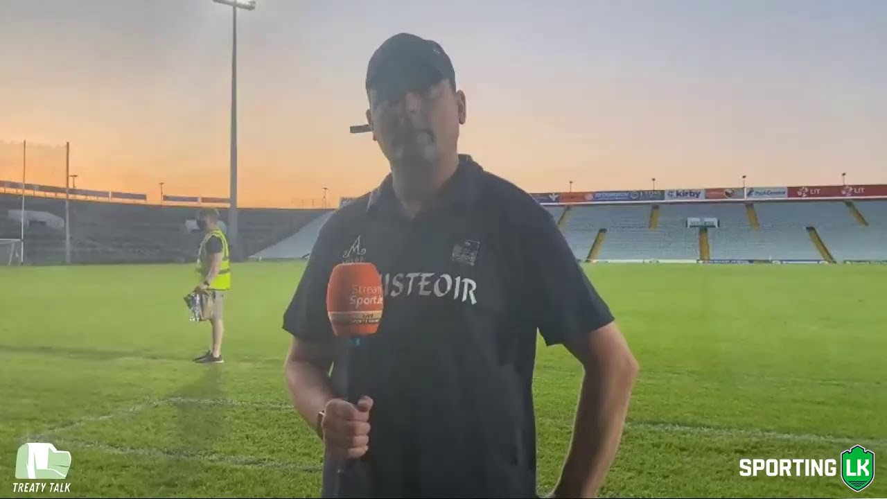WATCH: @LimerickCLG U20s manager Diarmuid Mullins reacts to his side's win over @GaaClare