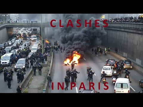 Violent clashes in Paris: Tear gas & burning tires as anti-Uber protest grips French capital