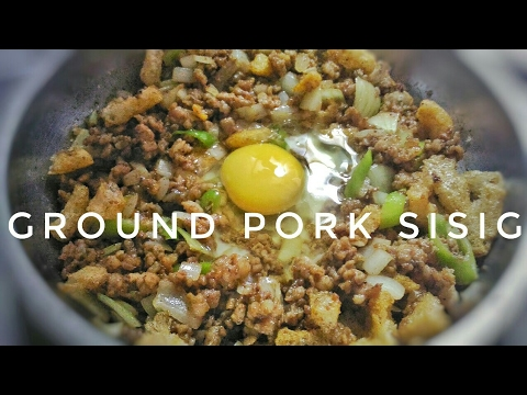 One Pan Ground Pork Sisig | Filipino Recipe |Food Bae