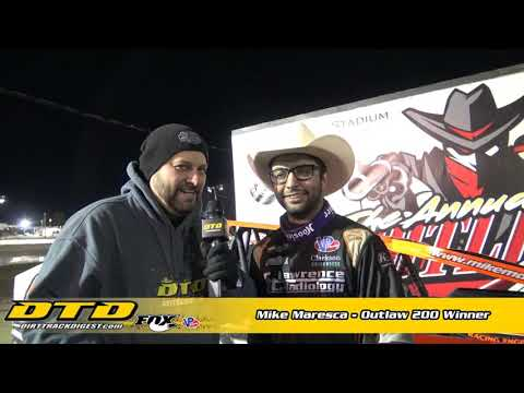 Saturday Night at the Fulton Speedway Mike Maresca pulled off the improbable. Maresca passed Matt Sheppard in the second half of the Outlaw 200 to take the ... - dirt track racing video image