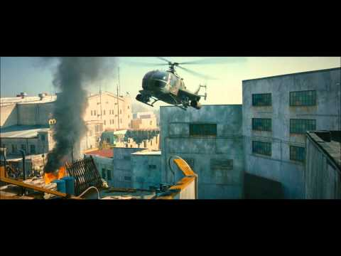 "The Expendables 2 - Clip 2 - ""Bike and Helicopter"""