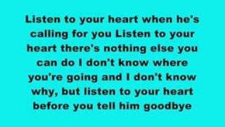 DHT Listen To Your Heart (With Lyrics)