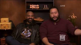 Talking Dead - Cooper Andrews (Jerry) on preparing for the fighting scenes