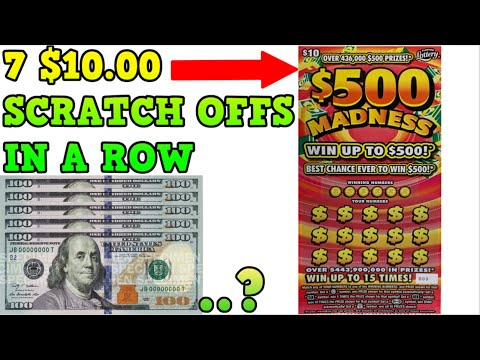 $70 In Scratch Off Tickets! $500 Madness Florida Lottery Tickets $$$