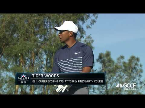 Tiger Woods @ 2018 Farmers Insurance Open R2 Highlights