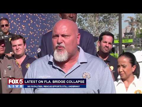FOX 5 LIVE (3/16):  Bridge collapse recovery in Miami continues; live EAGLE CAM from D.C.