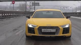 DT_LIVE  Зимой на 610 л с  Audi R8 и 1000+ л с  Audi R8 от GoshaTurboTech