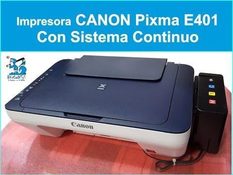 Descargar Video TUTORIAL SISTEMA CONTINUO CANON PIXMA E401 (1 PARTE)