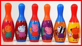 佩佩豬粉紅豬小妹的保齡球玩具,一起玩遊戲贏 Hatchimals 驚喜蛋