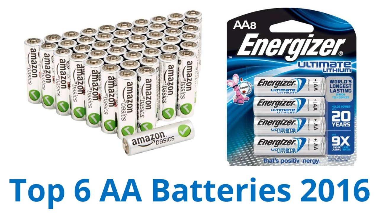 6 Best Aa Batteries 2016 Bay 9 Volt Smart Battery Charger 8 X 300 Mah Accupower Nimh