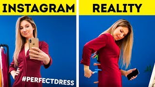24  SIMPLE INSTAGRAM HACKS II Instagram vs Real Life