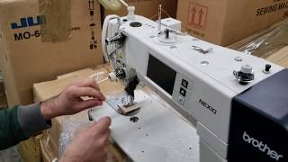 How to Thread Brother Single Needle (Nexio S-7300A...