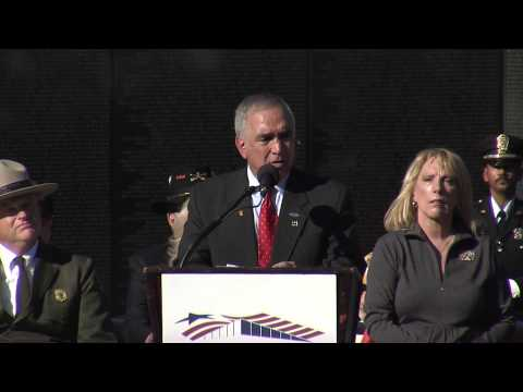 Veterans Day 2012 at the Vietnam Memorial Wall, with General Tilelli