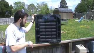 How To Build A Portable Solar Air Heater With Built In Solar Panel Powered Fan