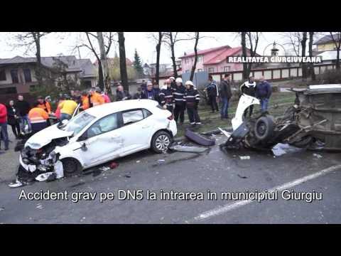 Accident grav în municipiul Giurgiu pe DN 5