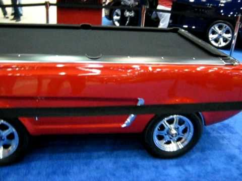 Ford Mustang Replica Pool Table YouTube - Mustang pool table